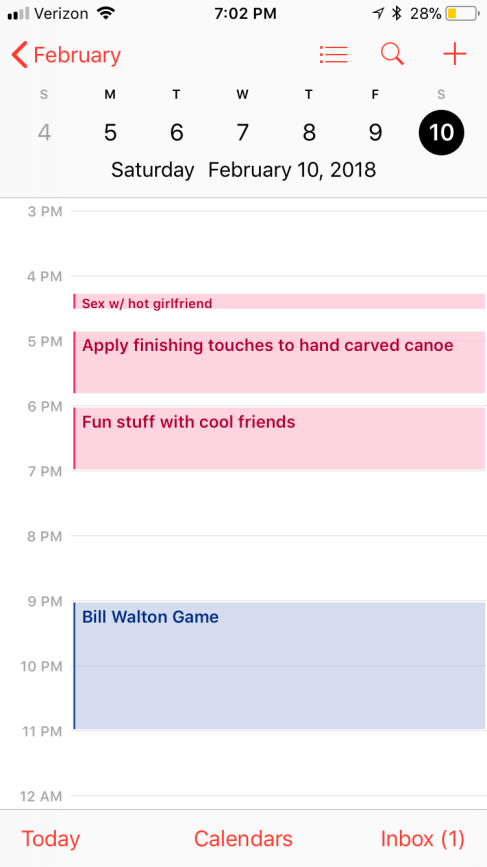 Schedule Joke